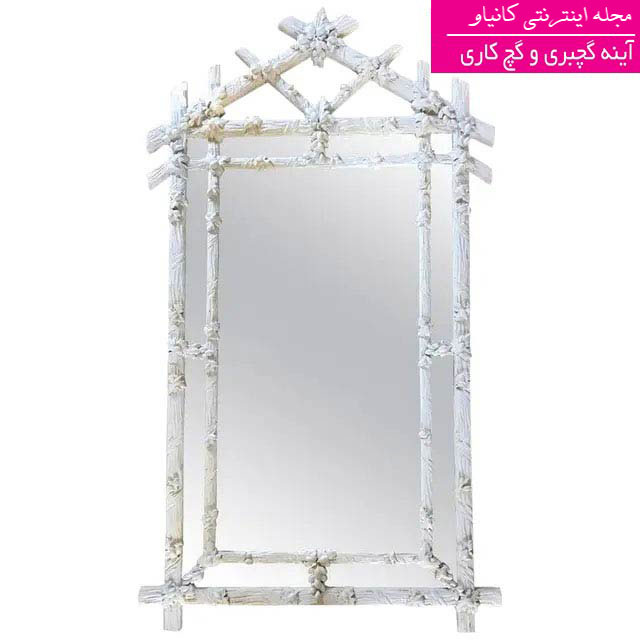 گچبری آینه قدی - گچبری آینه