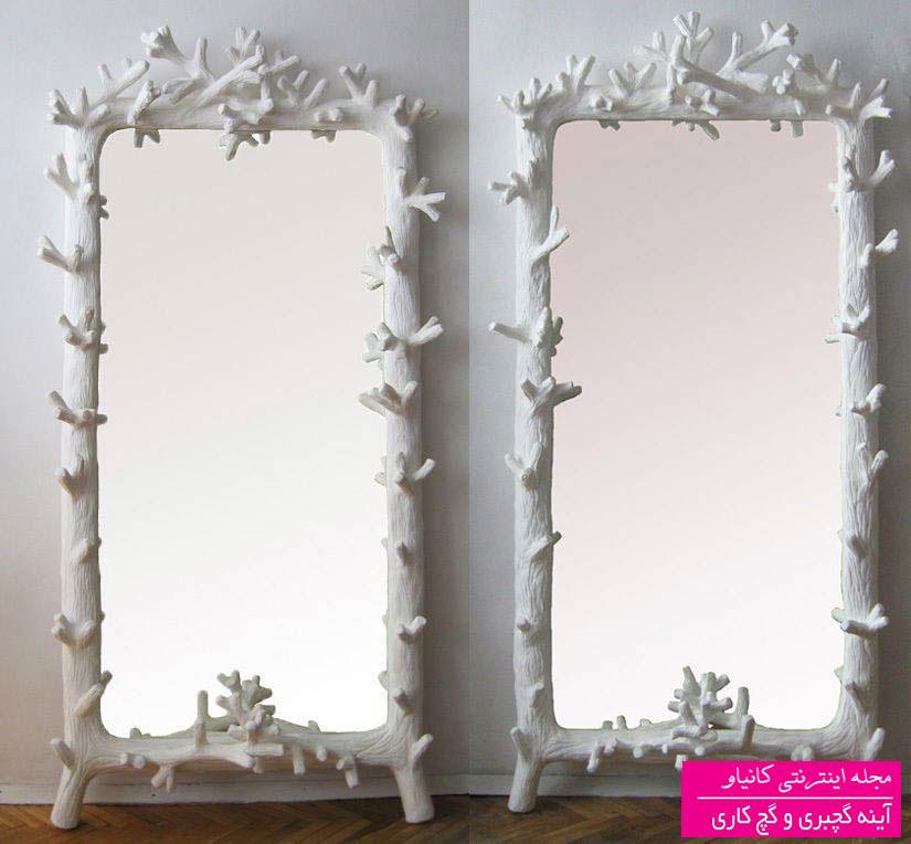 قاب آینه گچی طرح چوب و شاخه درخت