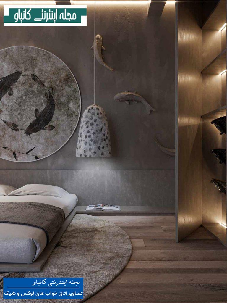 طرح دیزاین اتاق خواب آسیایی
