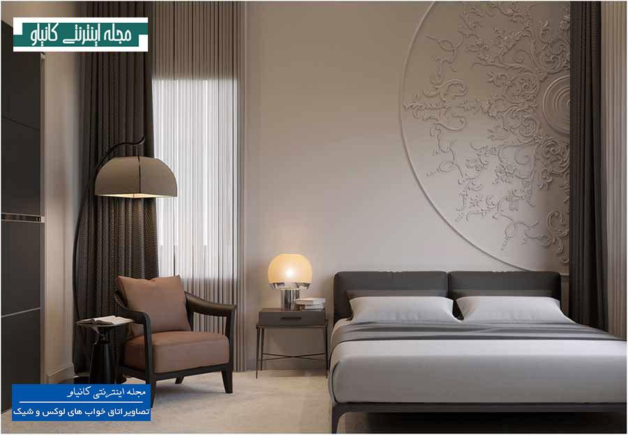 ایجاد جذابیت با تغییر شکل دیوار اتاق خواب