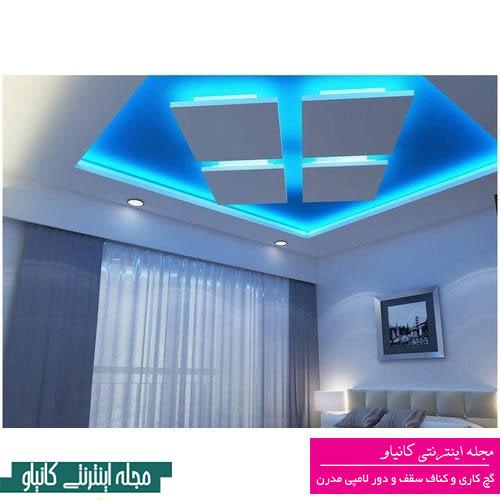کانال دکوراسیون خانه - گچبری دور لامپی سقف