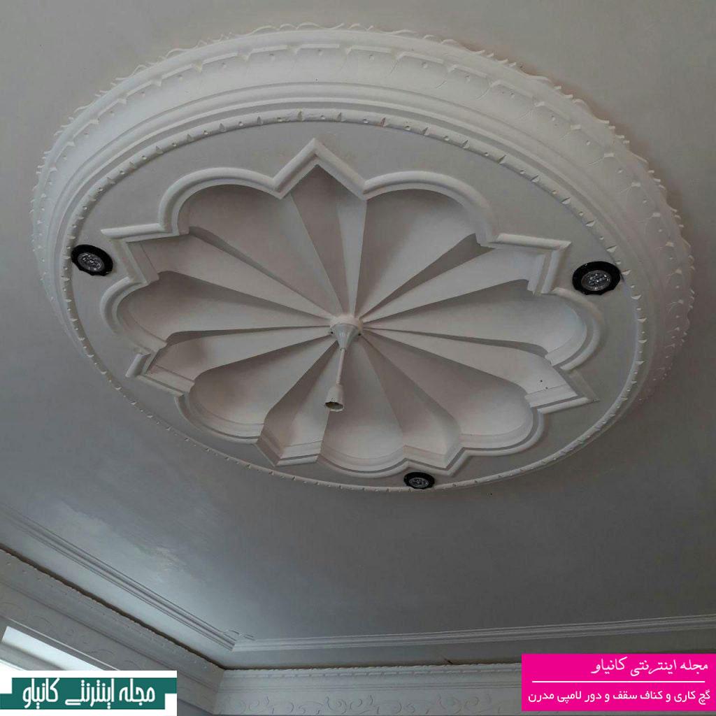 طراحی دکوراسیون سقف پذیرایی - دکوراسیون نورپردازی منزل