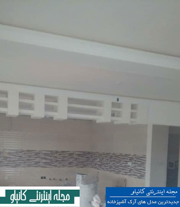 انواع طرح گچبری سقف - هنر گچبری - رنگ امیزی ابزار گچبری - گچبری نور مخفی سقف