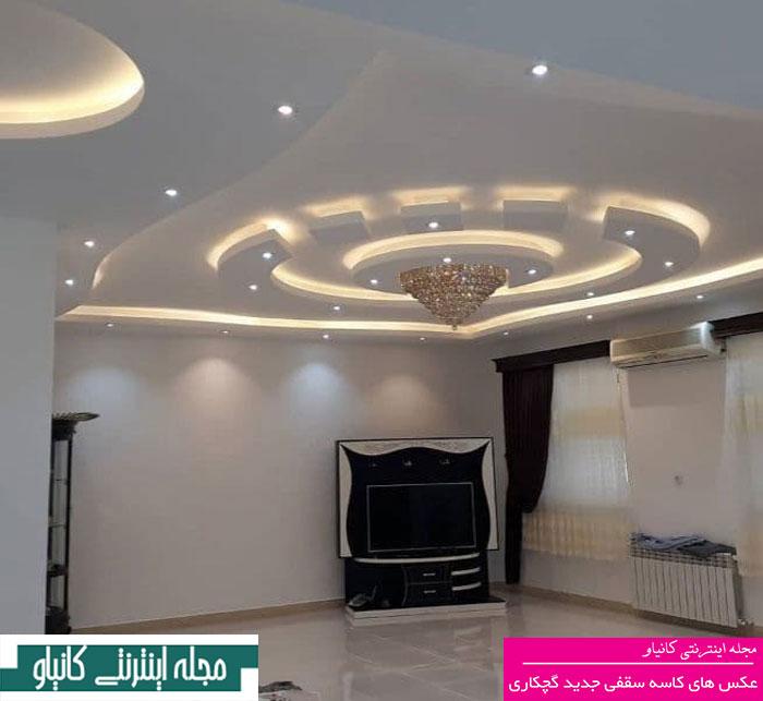 گچبری سنتی سقف - طرح های گچبری سقف پذیرایی - گچبری اتاق خواب