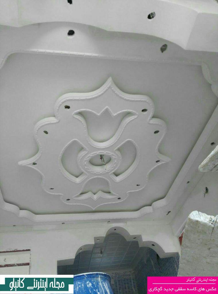 نصب گچبری سقف - گچبری راهرو - گچبری مدرن سقف پذیرایی