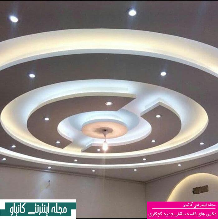 گچبری شومینه - آموزش گچبری میراث هنر - گچبری ساده سقف پذیرایی