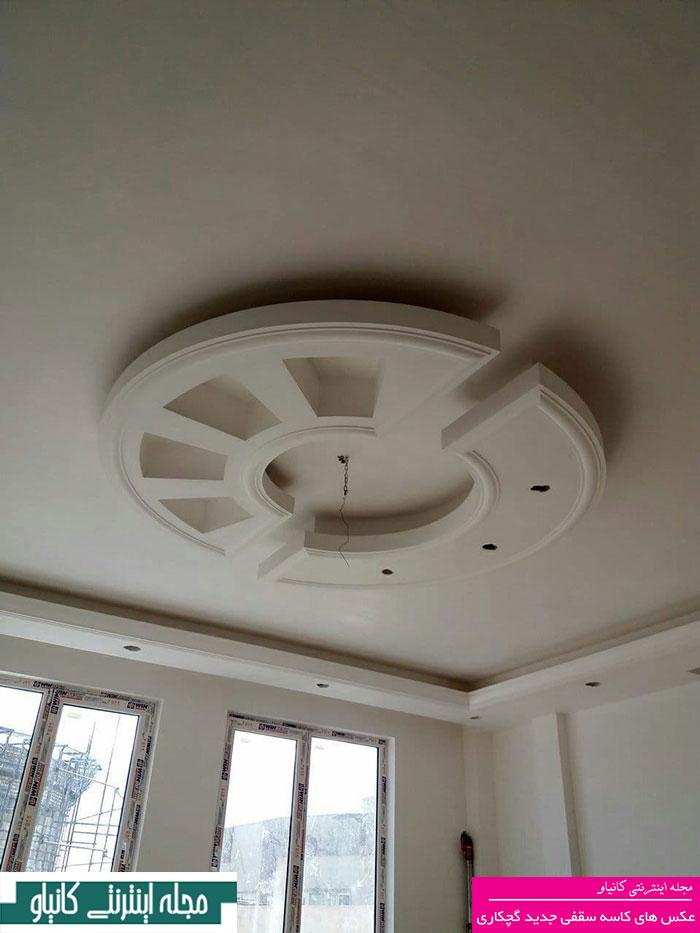 گچبری سقف منزل - نوعی گچبری در سقف در جدول - گچبری سقف پذیرایی