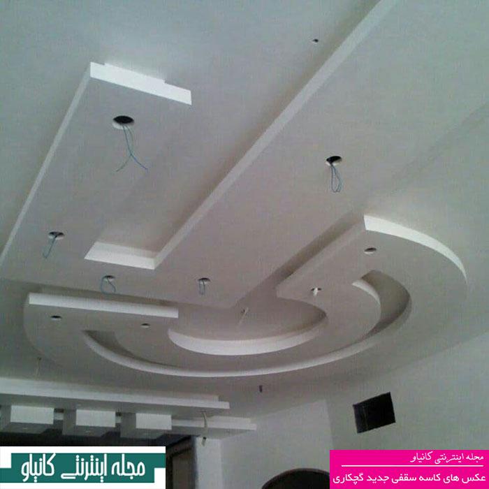 گچبری دیوار اتاق خواب - روش چسباندن گچبری - گچبری نور مخفی