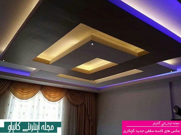 گل سقف گچبری - جدیدترین گچبری سقف پذیرایی - گچبری دستی
