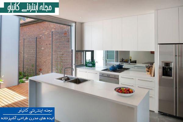 ایده های مدرن طراحی آشپزخانه می شود محیطی زیبا و شاداب تر را در آشپزخانه داشته باشید