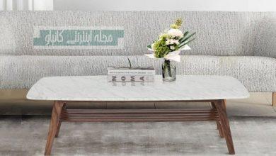 مدل میز قهوه رنگ روشن و سفید برای تازه سازی فضای نشیمن شما